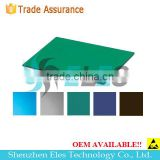 Green Blue Grey 2 Layers 2mm Thick Antistatic Rubber ESD Table Mat