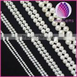 High quality 4/5/6/7mm white round sea shell pearl