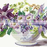 Flowers Chinese cross stitch patterns,cross embroidery dmc thread
