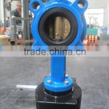 2 Inch Wafer Butterfly Valve with Manual Gearbox and Aluminium Handle Lever