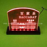 Baccarat Min Max Rate Display Board
