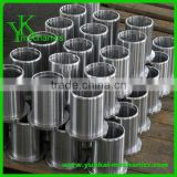Precision CNC machining stainless steel bushing, flanged bushing, cnc turning steel jacket