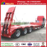 China high quality 3 axles 60 tonnes lowboy trailer dimensions, drop deck trailers , 60t lowbed truck trailer for Africa
