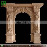 Decorative Natural Stone Arch Door Surround with Angel Design