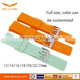 Manufacturers Custom Color 20MM 22MM silicone watch Band with buckle, General silicone strap