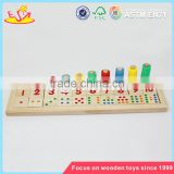 Wholesale hot math teaching aid wooden number learning toy preschool wooden number learning toy W12E002