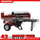 CE approved Briggs & Stratton VANGUARD gasoline engine hydraulic vertical 42ton used gas log splitter