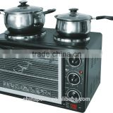 2015 hot sale good quality and competitiveprice electric oven with double hot plates