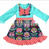 Adorable flower print baby girls dress with floor length
