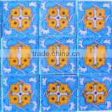 Home & Hotel Decorative Handmade Blue Pottery Tiles / Swimming Pool Decor Jaipuri Tiles