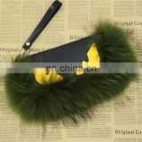 Popular style lady fur clutch bag real raccoon fur leather handbag