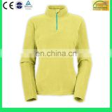 Women's pullover polar fleece jacket , high quality plain design 1/2 zip jackets without hood- 6 Years Alibaba Experience