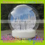 2015 Christmas inflatable snow globe/X-mas inflatable snow ball for photo