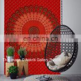 Wall Hanging Mandala Tapestry Red Ethnic Indian Tapestry New Mor Beach Mat Home Decor Throw Handmade Cotton Tapestries