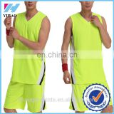 Dongguan Yihao 2015 Latest 100% Polyester Custom Blank Basketball Jerseys Gym Clothing Uniforms Wholesale