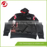 Custom sublimation warm up fitted hoodies