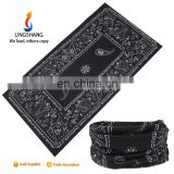LINGSHANG fashion stock hair accessories multifunctional headwear bandana soft 100% polyester bandana