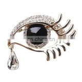 Best Selling Crystal Charm Angel Tear Drop Design Brooches In Bulk Rhinestone