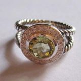 925 Silver Jewelry 8mm Peridot Petite Albion Ring(R-027)