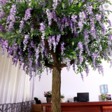 China wholesale Fancy design artificial wisteria flower tree with real looking for landscaping decoration