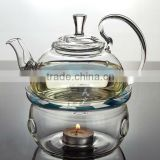 Glass Teapot 600ml,tea sets,teapot with filter+2 Double wall glass coffe tea Cup+1 Warmer+1small Candle+good gift