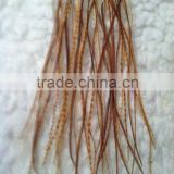 RUST GRIZZLY ROOSTER SADDLE FEATHERS HAIR EXTENTIONS