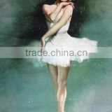 High Quality Canvas Base Environmental Oil Medium Handmade Sex Ballet Girl Dancing Oil Painting