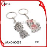 Customized Metal Best Seller custom metal key chain for couple