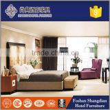 Upholstered wood carving laminate traditional bedroom furniture for hotel