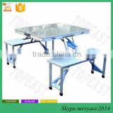 Chinese Aluminum Alloy Folding Moveable Picnic Portable Foldable Tables Chairs Furniture