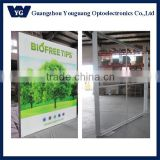 Double sided free standing frameless LED advertising board with fabric skin