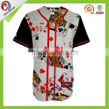 New style 100% polyester fabric Cheap Custom Baseball Jersey from China