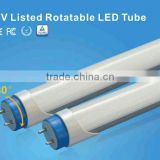 led lights new technology TUV T8 led tube rotatable T8 led tube 600mm Microwave Newest Rotating End Cap T8 LED Tube for Car Par