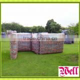 Hot sale inflatable paintball wall