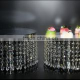 AN349 ANPHY FDA European Style Noble Crystal Cake Plate Wedding Decoration Three Sizes Metal Tray Stand Display Holder