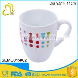 FDA standard simple style design custom melamine milk mug