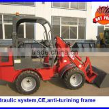 mini wheel loader with UK engine,imported SAUER walk electric hydraulic system,Italian valve,quick hitch,anti-turing frame