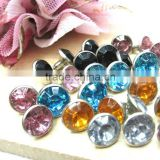 Top quality Crystal preset rhinestone rivets, Rhinestone crystal rivet spike rhinestone rivet in Bulk for decoration
