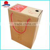 Custom Printed Cheap Corrugated Shoe Boxes With String Handle                                                                         Quality Choice