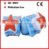 Lovely star design inflatable swimming armband for kids