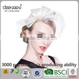 Fancy Hair Accessories Lace Fascinator Lady Sinamay Church Hat                                                                         Quality Choice