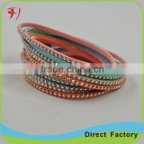 New Fashion Jewelry Handmade Braided rope Genuine Leather Punk Bracelet for men