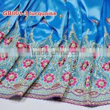 new design African embroidery george, high quality george wrapper fabric for GB001-3