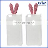 [GGIT] Cute Rabbit Ears Design Soft TPU Phone Cover Case With Rhinestone for iPhone 6 Plus                                                                         Quality Choice