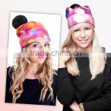 10pcs to buy factory direct sale New arrival Cute Funny baby beabie winter hat for ladies high fashion