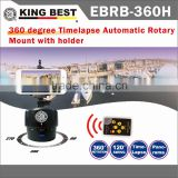 "KING BEST EBRB-360H new and hot product 2016 360 degree 1/4"" auto rotation Panning Rotating Time Lapse with phone holder"