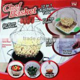 folding 12 in 1 mini fryer wire basket as seen on TV