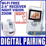 "2.4"" TFT LCD 2.4 GHz Wireless Pan Tilt PTZ Camera Baby Monitor"