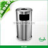 Stainless Steel Dustbin with Hand Made Metal Office Industrial Hotel Room Hospital Garbage Stainless Steel Dustbin