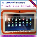 Best Sales 7 inch tablet For Learning Best Children Tablet PC Android 800*480pixels(16:9) 7 inch Kids Tablets